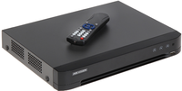DS-7204HTHI-K2  Hikvision Видеорегистратор HD-TVI/AHD/CVI/960H  4 канала видео Скорость записи TVI: 8Мп х12к/с, 5Мп х20к/с, 3Мп х18к/с, 4Мп/1080p/720p х25к/с; для AHD: 5Мп х20к/с, 4Мп/3Мп/1080p/720p х25к/с; 2х HDD SATA до 8Тб, DC12В/1250мА (без HDD)