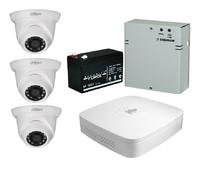 Комплект видеонаблюдения Dahua DH-XVR5104C-X1 / 3 камеры Dahua DH-HAC-HDW1200SLP-0280B