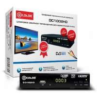 Ресивер цифровой эфирный DVB-T2|T1 HDMI D-COLOR DC 1002HD
