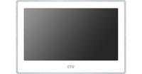 "CTV-M4704AHD W 7"" монитор цветной, AHD с IPS экраном, Hands free, дет.движ. на 4 кан, Touch Screen, поддержка Full HD(2Мп) AHD,TVI,CVI,CVBS, автоответчик, micro SD, фоторамка и часы, 2 выз.панели/2 видеокамеры/2 датчика тревоги/5 монитов, цв. корп. белый"