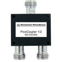 Делитель мощности PicoCoupler 1/2 входного сигнала на два выхода, Рабочий диапазон частот, МГц 800-2700, Разъем N-female