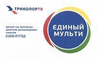 """Карта оплаты """"Единый-Мульти 2000"""" 12 месяцев Триколор ТВ"""