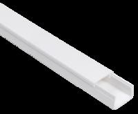 IEK ЭЛЕКОР кабель-канал белый 20х10 пластик, длина 2 метра (цена указана за 1 метр)