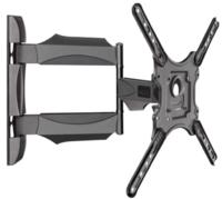 "KALOC X4 кронштейн для ТВ наклонно-поворотный черный VESA: от 100х100 до 400х400, диагональ 32-55"", нагрузка 31,8 кг"