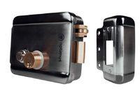 Замок электромеханический накладной Optimus EMR-02 (хром), время подачи отпирающего сигнала  не более 3 сек   12В,  1,5А, 5 ключей в комплекте, блокировка кнопки открывания, t -40°С до +50°С,  1466 г,  130х105х38 мм