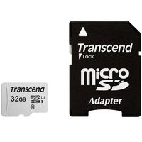 Карта памяти Transcend 32GB microSDHC Class 10 with SD adapter (TS32GUSD300S-A)