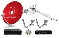 Комплект эфирного и спутникового телевидения МТС ТВ на 1 телевизор