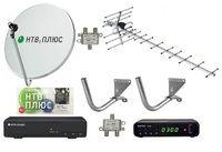 Комплект эфирного и спутникового телевидения НТВ+ на 1 телевизор