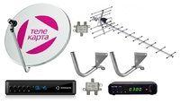 Комплект эфирного и спутникового телевидения Телекарта на 1 телевизор
