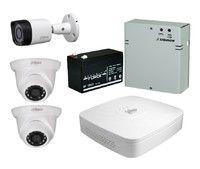 Комплект видеонаблюдения Dahua DH-XVR5104C-X1 / 2 камеры Dahua DH-HAC-HFW1220RP-0360B / 1 камера DH-HAC-HDW1200SLP-0280B