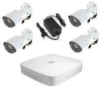 Комплект видеонаблюдения Dahua DH-XVR5104C-X1 / 4 камеры Dahua DH-HAC-HFW1200TP-0360B-S4