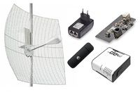 Комплект 4G интернета KNA27-1700/2700 BOX / HUAWEI E 3372 / RBmAP2nD MIKROTIK Wi-Fi до 100 м2