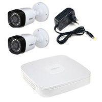 Комплект видеонаблюдения Dahua DH-XVR5108C-X / 2 камеры Dahua DH-HAC-HFW1000RP-0280B-S2