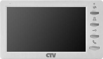 """CTV-M4700AHD W 7"""" монитор цветной формата AHD с экраном 7"""", Hands free, встр. дет. движ. на 3 кан, AHD-M/960H, автоответчик, micro SD (до 32ГБ), фоторамка и часы, 2 выз. панелей/2 видеокамер/2 датчиков тревоги/5 мониторов, цв. корпуса - белый"""