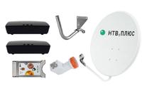 Спутниковое телевидение НТВ+ на 3 телевизора с 2 ресиверами Opentech ISB7-VA70/B и CAM модулем
