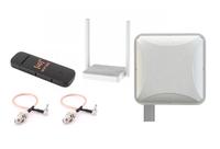 Комплект 4G интернета PETRA BB 75 MIMO 2x2 / HUAWEI E 3372 / KEENETIC Wi-Fi до 100 м2