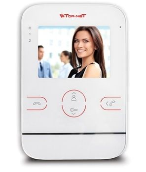Монитор видеодомофона Tornet TR-25M W (белый)