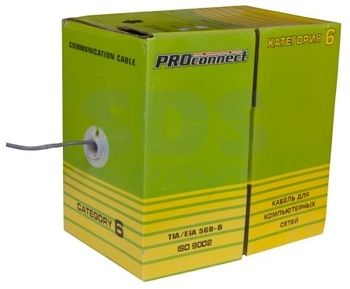 Кабель UTP 4PR 23AWG CAT6 PROCONNECT