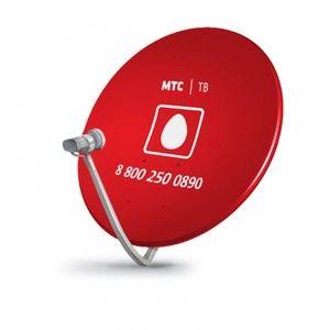 Спутниковая антенна Супрал 0,6м МТС ТВ красного цвета