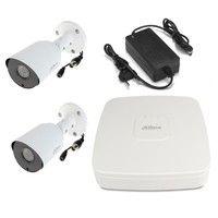 Комплект видеонаблюдения DH-XVR5104C-X1 / 2 камеры Dahua DH-HAC-HFW1400TP-0280B