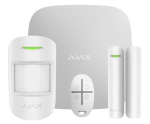 Ajax StarterKit (white) Комплект радиоканальной сигнализации Ajax в составе: Ajax Hub - 1 шт., Ajax MotionProtect - 1 шт., Ajax DoorProtect - 1 шт., Ajax SpaceControl - 1 шт. Сертифицированная сигнализация профессионального уровня.