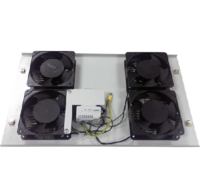 NF004T Netfoul блок вентиляторов потолочный (4 шт), с термостатом для установки в шкаф