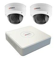 Комплект IP видеонаблюдения HiWatch DS-N204P(B) / 2 камеры HiWatch DS-I102