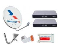 Спутниковое телевидение Триколор ТВ на 3 телевизора с 2 ресиверами GS B528 и CAM модулем