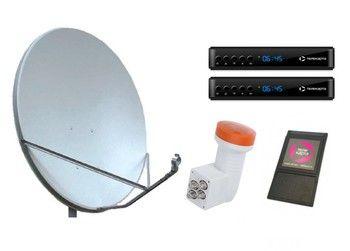 Спутниковое телевидение Телекарта на 3 телевизора  с 2 ресиверами EVO-09 HD и CAM модулем