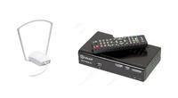 Комплект цифрового ТВ D-Color Bas (дальность приема 10 км, антенна крепится возле окна)