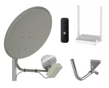 Комплект 4G интернета UMO-3 MIMO 2х2 BOX с антенной 60 / HUAWEI E 3372 / KEENETIC Wi-Fi до 100 м2