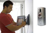 Установка кнопки выхода для для видеодомофонной системы