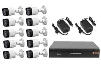 Комплект видеонаблюдения VeSta VHVR-6416 / 10 камер Dahua DH-HAC-HFW1000RP-0280B-S3